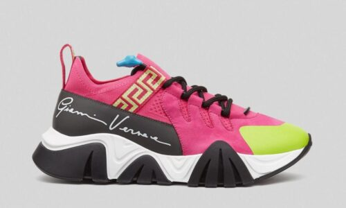 SQUALO TRAINERS KNIT PINK - AvaSneaker